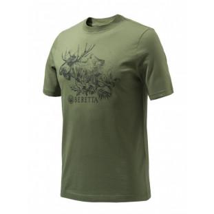 Camiseta Beretta Masculina Engraving Moose